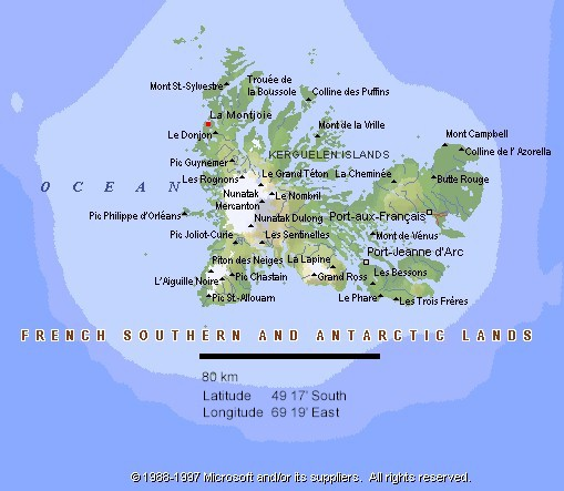 French Indian Ocean Island Map
